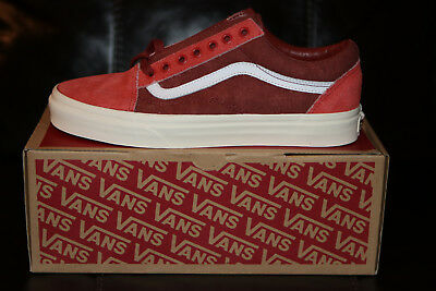 Vans for J.Crew Old Skool Sneakers Shoes Limited Edition Red NEW Men's sz US 8.0