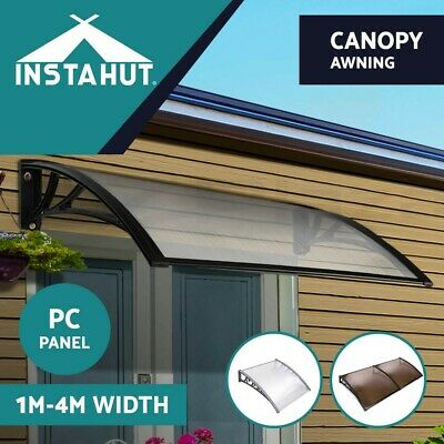 Instahut 1-4M DIY Window Door Awning Outdoor Canopy Patio UV Awning Rain Cover