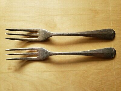 "2 Vintage Collectible ANTIQUE FORKS 6.75"",SHEFFIELD ENG. EPNS A1"