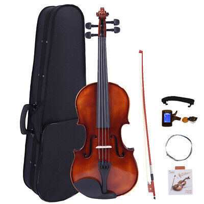 Glarry Acoustic Violin 1/8 Retro Matte Spruce Wood w/Case Musical Instruments