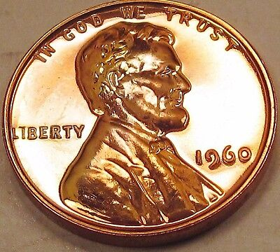 1960 KEY Small Date GEM PROOF FULL RED Lincoln Cent Coin Penny LOT PQ NO RESERVE