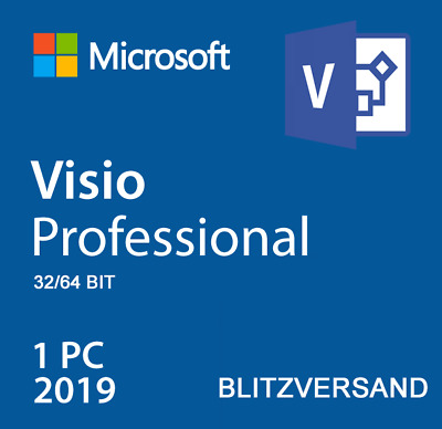 Microsoft Visio 2019 Professional ✓ Lizenz Product Key ✓ Vollversion ✓ 32/64 BIT