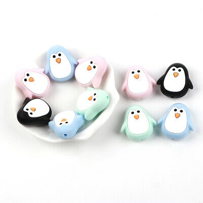 4Pcs Silicone Teether Beads Baby Teething Bead Necklace Pacifier Chew Toy DIY
