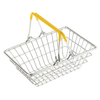 Mini Metal Shopping Supermarket Hand Basket Kids Pretend Play Toys Gifts