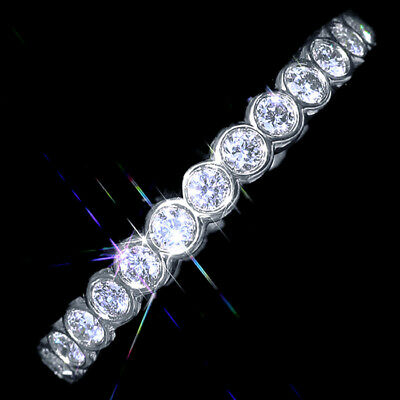 1Ct 100% Natural Diamond 10K White Gold Cluster Wedding Ring EFFECT 2Ct RWG176-2
