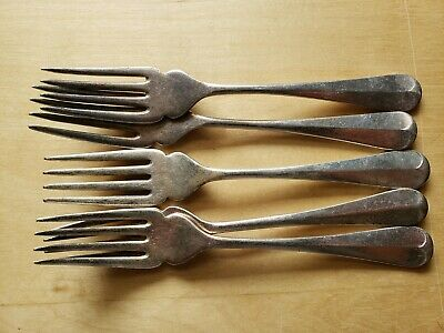 "5 Vintage Collectible ANTIQUE FORKS 6.5"",EPNS A1 SHEFFIELD ENGLAND"