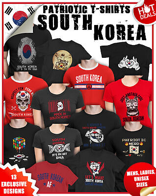 865998f2ee5 SOUTH KOREA Patriotism T-Shirts Football MENS LADIES Womens World Cup 2019  Top