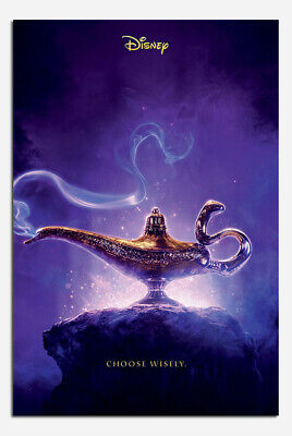Laminated Poster Aladdin Movie Choose Wisely Official