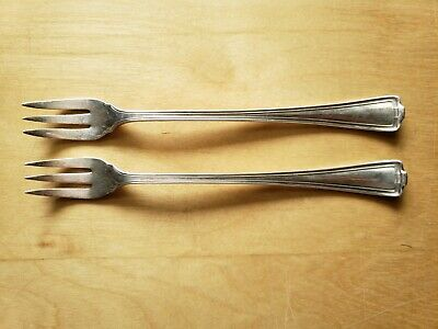 """2 Vintage Collectible ANTIQUE FORKS 6"""", 1847 ROGERS BROS XS TRIPLE PLATE"""