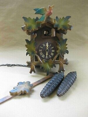 Vintage German Cuckoo Clock for Spares or Repair ~ Pine Cone Weights