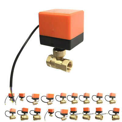 Electric Ball Valve Control Brass Thread Stable Motorized Electric Ball Valve
