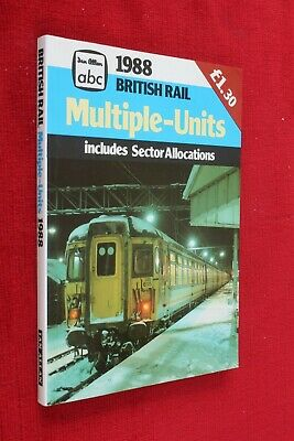 Ian Allan 1988 Abc British Rail Multiple Units Emu & Dmu Stock Book Vgc Unused