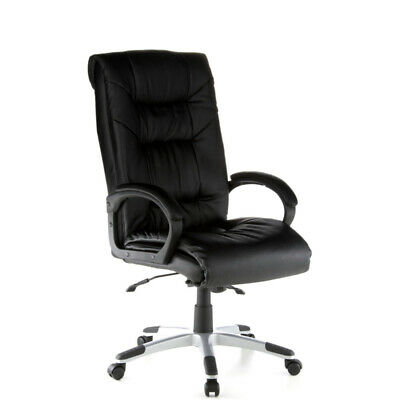 Office Chair Executive Chair Genuine Leather Ergonomic PRESIDENT SOFT hjh OFFICE