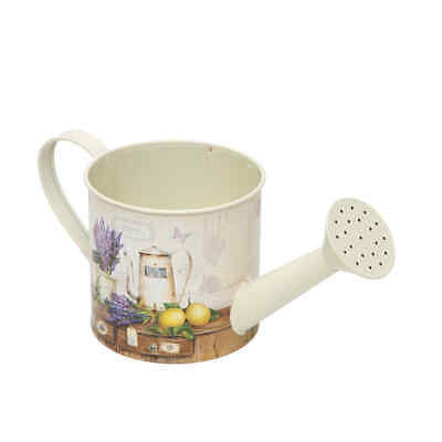 Lavender Floral Print Design Tin Watering Can Planter