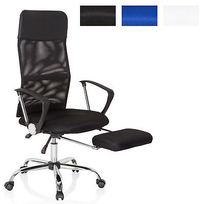 Office Chair Executive Chair Foot Rest Mesh PU 180° Back PURE RELAX hjh OFFICE