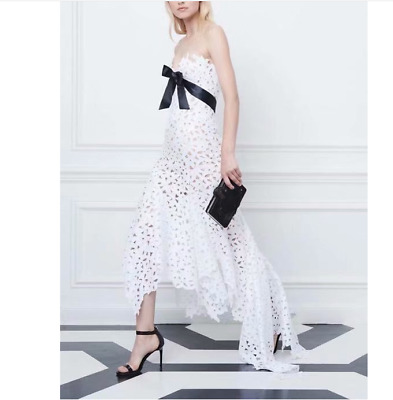 2019 Womens Hot Sale Graceful Irregular Water Soluble Flower Party Dress Lace