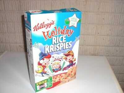 Vintage 1998 HOLIDAY RICE KRISPIES Cereal Box Kellogg's