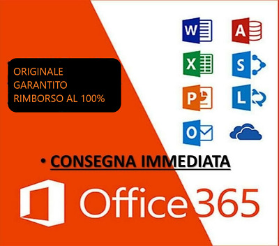 Microsoft Office ✔Originale 365/2016 Pro Plus ✔Immediato ✔A Vita ✔Italiano