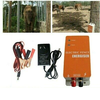 Solar Electric Fence Charger Ranch Animal Raccoon Dog Sheep Horse Cattle Poultry