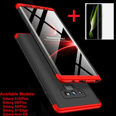 For Samsung Galaxy Note 9 8 S10 Plus Shockproof 360° Case Cover+Screen Protector
