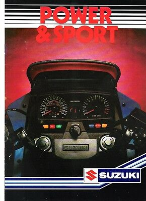 Suzuki Range 1984 UK Power Sports bikes brochure 1100 Katana RG250 Gamma XN85