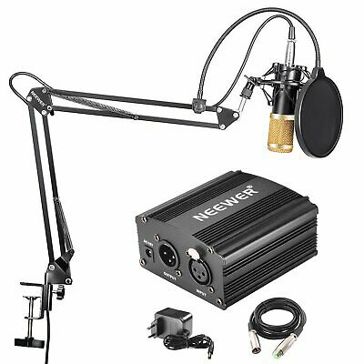 1026545-Neewer NW-800 Microfono a Condensatore Professionale NW-35 Stand per Mic