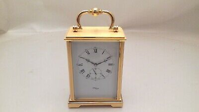 Vintage Imhof 15 Jewels Brass Carriage Clock