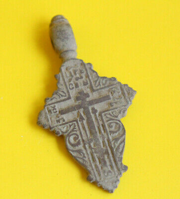 Ancient Old Believer Bronze Leaf Cross Female