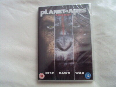 Planet Of The Apes Trilogy/(2017,DVD)Brand New Sealed.Rise/Dawn/War.