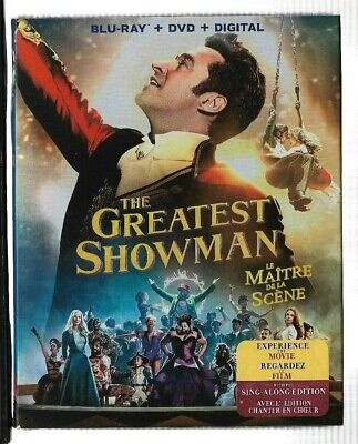 New Sealed Blu-Ray + DVD + Digital - THE GREATEST SHOWMAN -  Also In French