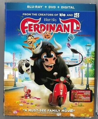 New Sealed Blu-Ray + DVD + Digital  FERDINAND  Also In French Makers RIO Ice Age