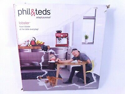 phil&teds Lobster Clip-On Highchair, Black Includes Carry Bag - New!