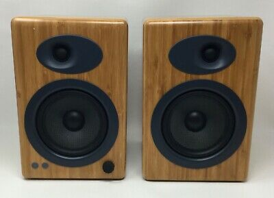 """Audioengine A5+ 5"""" Active 2-Way Speaker System - Pair  - Bamboo **NO RESERVE**"""
