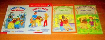 Henry and Mudge READY TO READ Lot of 4-Softcovers/Leveled Reader/Scholastic