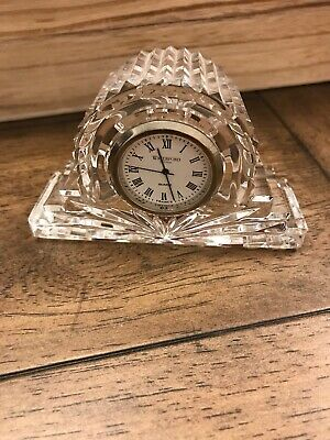 Waterford Crystal Small Clock Beautiful No Reserve