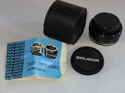 Soligor Tele-Converter Lens 2X With Case