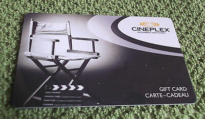 Cineplex Gift Card Director's Chair  Collectible $0 value - FD22865 - Canada