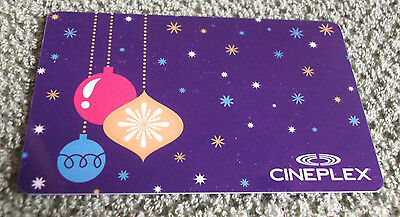 Cineplex Gift Card Christmas Ornaments  Collectible $0 value - FD49560 - Canada