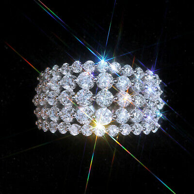 2Ct 100% Natural Diamond 14K White Gold Cluster Ring EFFECT 5Ct RWG71-6