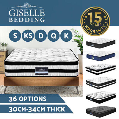 Giselle Bedding Queen Double King Single Mattress Bed Pocket Spring Memory Foam