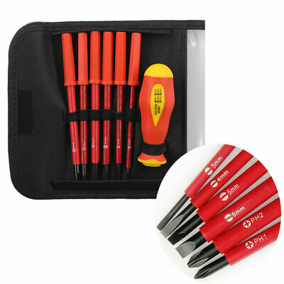 Interchangeable SL PH Electricians Screwdriver Set Fully Insulated 1000V 7PCS