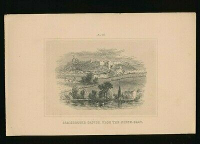 Orig. Ton-Lithographie Isle of Wight Carisbrooke Castle from the North-East 1859