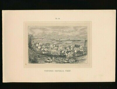 Orig. Ton-Lithographie Isle of Wight, Ventnor, Central View, 1859  (ST1)