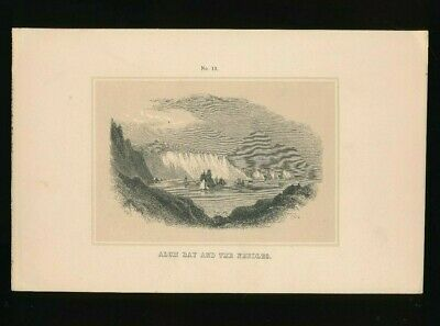 Orig. Ton-Lithographie Isle of Wight, Alum Bay and the Needles, 1859,  (ST1)