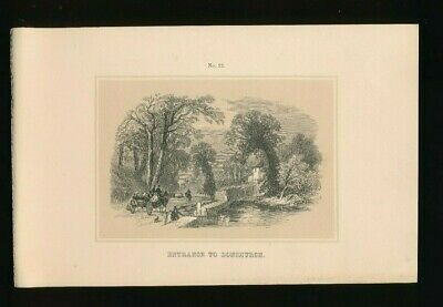 Orig. Ton-Lithographie Isle of Wight, Entrance to Bonchurch, 1859,  (ST1)