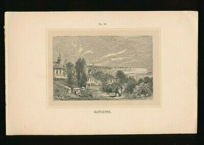 Orig. Ton-Lithographie Isle of Wight, Sandown, 1859,  (ST1)