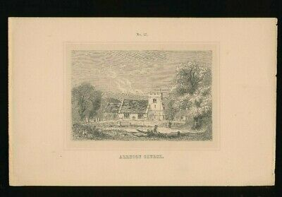 Orig. Ton-Lithographie Isle of Wight, Arreton Church, 1859,  (ST1)