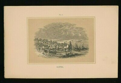 Orig. Ton-Lithographie Isle of Wight, Cowes, 1859,  (ST1)
