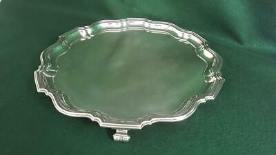 Superior Quality Hallmarked Sterling Silver Salver Tray 1000g B'ham 1947