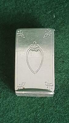 Rare Antique H/M B'ham 1883 Sterling Silver Vesta w Unusual Opening Action